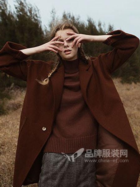 红馆女装时尚修身呢子外套