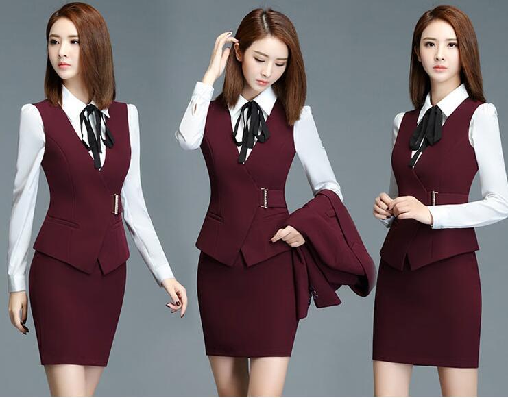 花都区女款职业装定做,气质西装裙定制工厂,OL套装裙定做