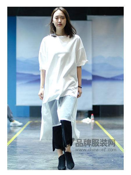 SIMTLY纯粹女装2018春夏时尚文艺网纱拼接上衣