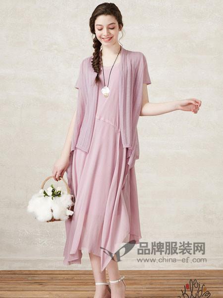 珂蕾朵姆女装棉质长裙舞摆田园的纯美飘逸