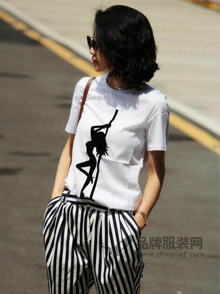 Vanities女装2018春夏时尚U乐国际娱乐平台印花短袖T恤