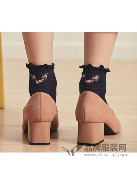 GCGOCOH阪の屋内衣2018春夏刺绣女袜