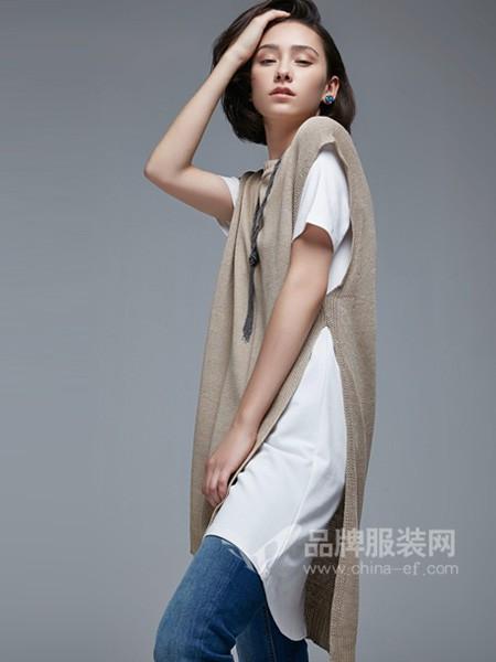 杰恩蒂女装2018春夏韩式中长两件套针织外套