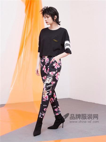 CRZ潮牌女装2018春夏休闲时尚百搭短袖T恤