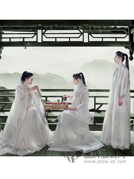 吉祥斋女装2018春夏式复古绣花真丝连衣裙