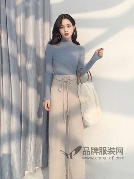 永创女装2018春夏时尚简约高腰百搭阔腿裤