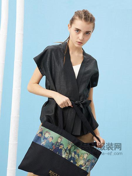 芥末女装2018春夏中国风中式印花设计连袖对襟黑色短款改良唐装汉服