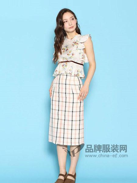 Deicy女装2018春夏格纹紧身裙半身裙