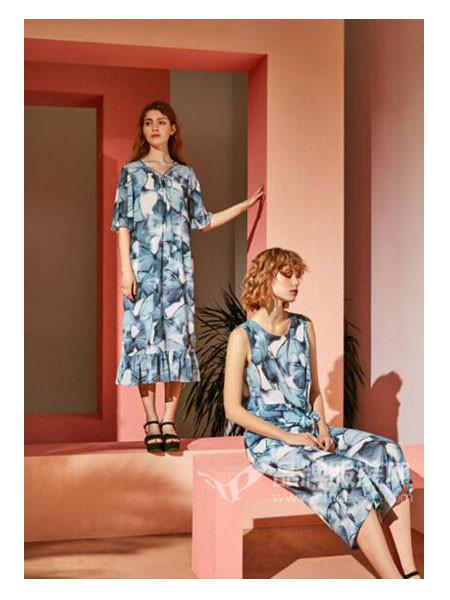 昆诗兰女装2018夏季时尚优雅气质碎花无袖连衣裙