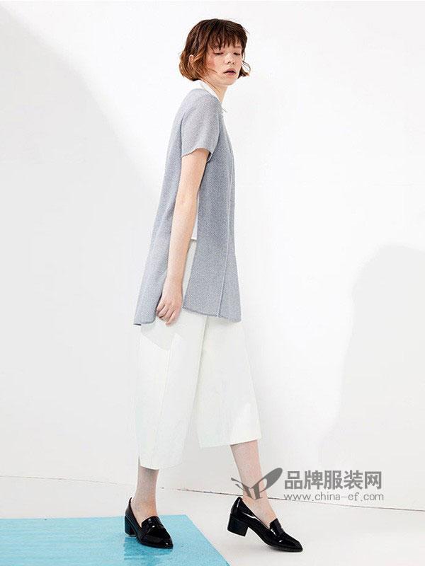 娜尔思.灵女装2018春夏新款纯色圆领短袖宽松百搭卫衣 3.23