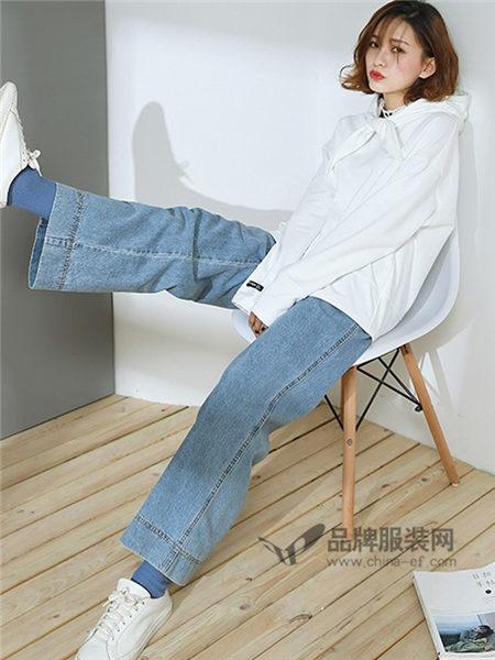 as安都女装2018春夏时尚休闲长袖衬衣
