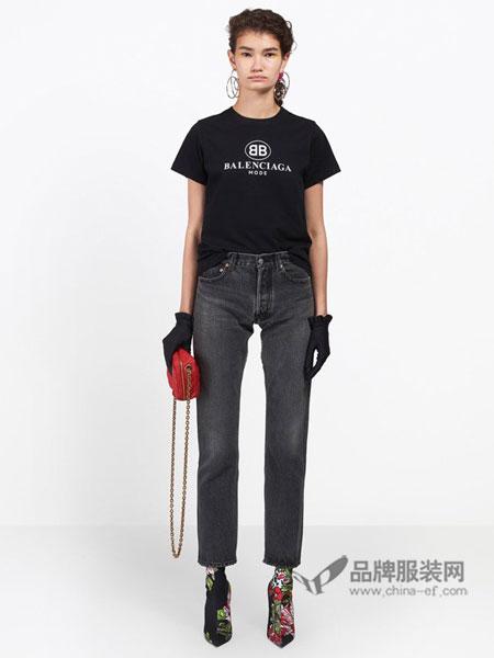 巴黎世家女装2018春夏春夏 女士 经典五袋牛仔裤