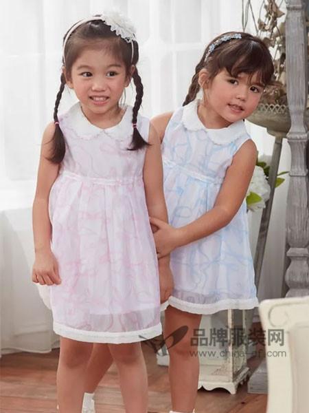 安妮公主童装春夏韩式优雅娃娃领连衣裙