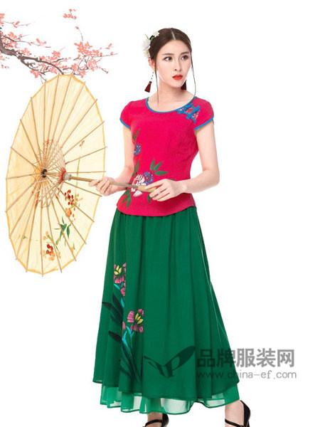 千唐绣女装2018春夏民族国风时尚茶服改良修身短款唐装女士旗袍