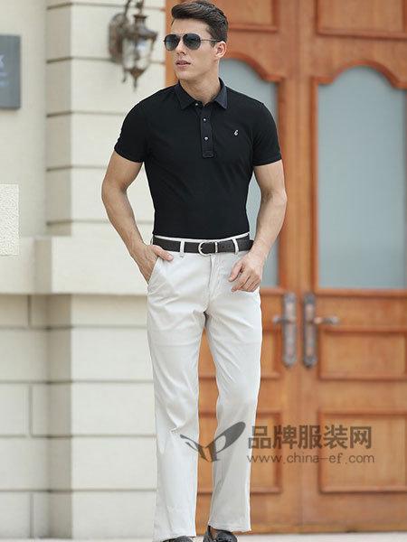 斯卡图男装纯棉日常简约风时尚百搭休闲短袖T恤