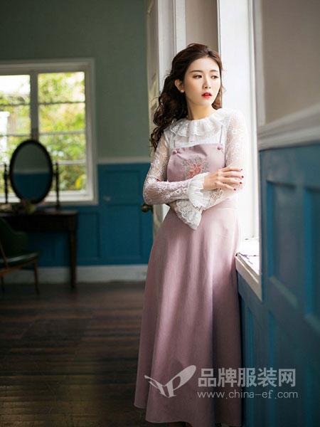 固执女装2018春夏时尚气质裙子韩版显瘦蕾丝小清新粉色