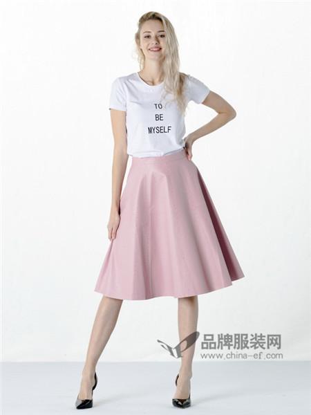 白领女装2018春夏时尚休闲简约字母T恤