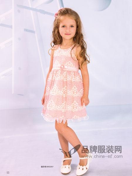 黑白熊童装2018春夏中大童女童学生蓬蓬公主