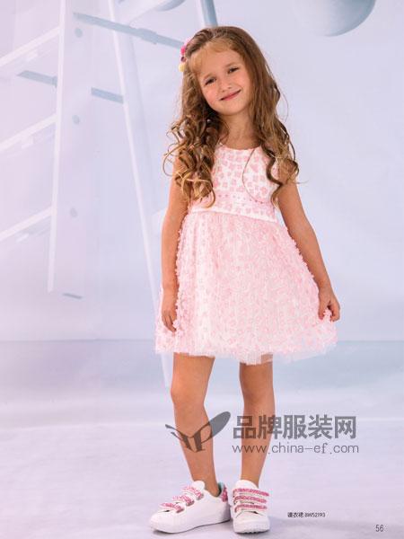 黑白熊童装2018春夏蕾丝网纱裙小公主背心裙公主裙童装