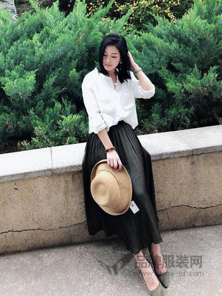 明迈服饰女装2018春夏新款立领白衬衫长袖宽松小清新韩版百搭学生
