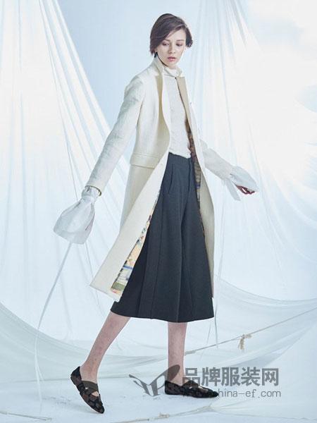 罗兰.伊杜女装2018春夏休闲白色提花口袋优雅风衣女外套