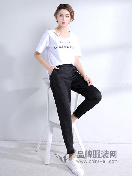 �Z逸女装2018春夏百搭修身显瘦休闲裤时装裤子女裤小脚裤长裤潮