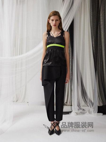 亚创国际女装雪纺连衣七分裤休闲时尚两件套装女