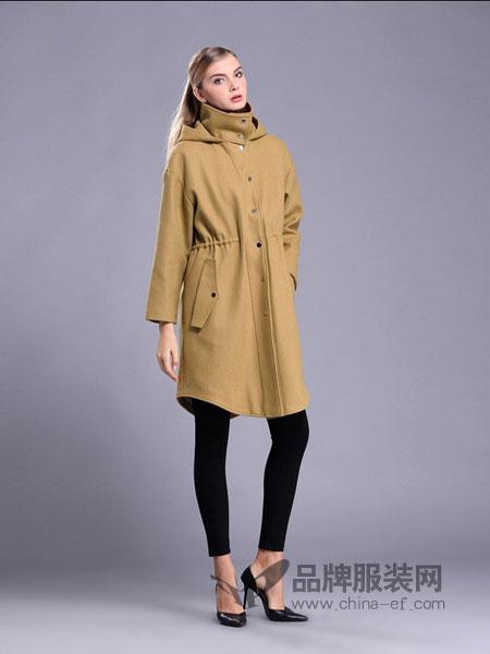 亚创国际女装中长款显瘦收腰修身薄外套风
