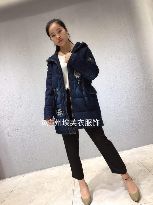 2018冬季正品【艾米拉】品牌折扣女装女式羽绒服批发