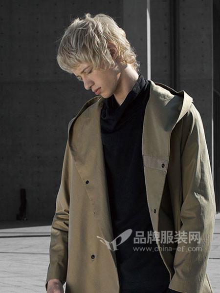 GKKESN积客绅男装2018秋冬时尚休闲连帽中长风衣