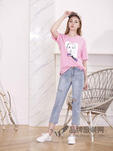 艾米女装2018春夏新款韩范宽松大版潮流T