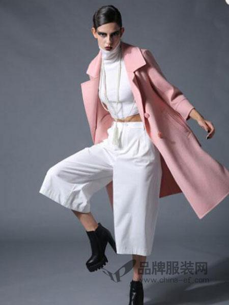 曼德诗品牌女装女装纯色长袖时尚修身宽松风衣女外套韩潮