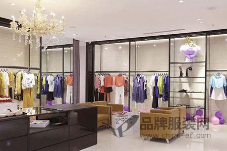 曼德诗品牌女装店铺展示