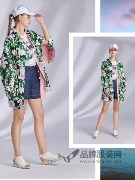 XIIBASKET十二篮女装花卉印花海岛度假风衣