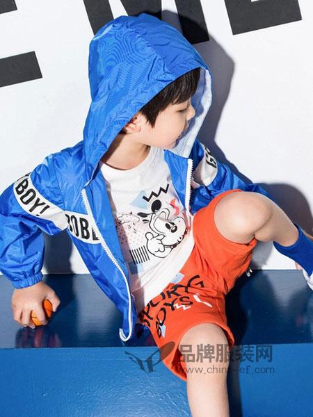 巴布豆BABUDOU童装2018春夏时尚风衣韩版儿童运动外衣
