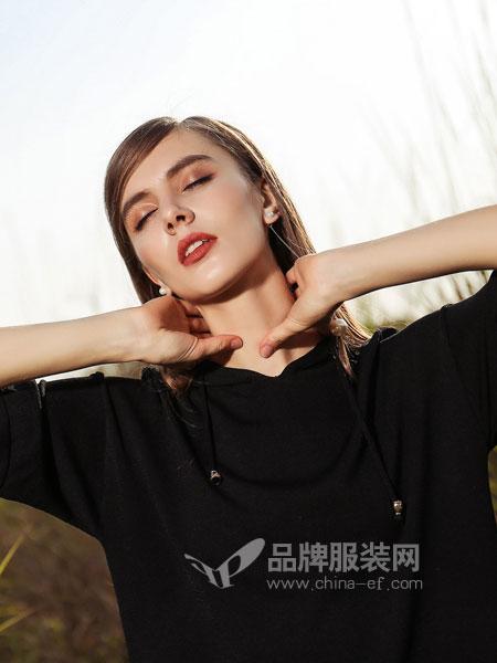 浩洋国际女装2018春夏简单纯色韩版 宽松BF 短袖T恤