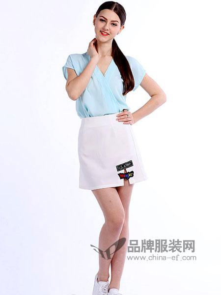 戴莉格琳女装新品修身V领短袖雪纺衫淑女洋气小衫
