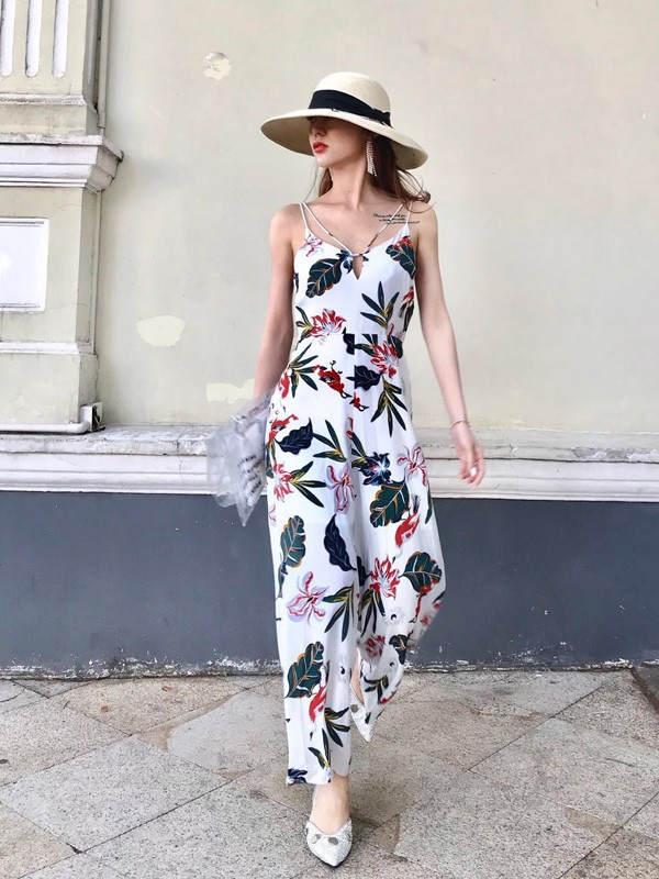 安娜索菲娅  女装折扣高档女装新款货源进货 18夏 连衣裙