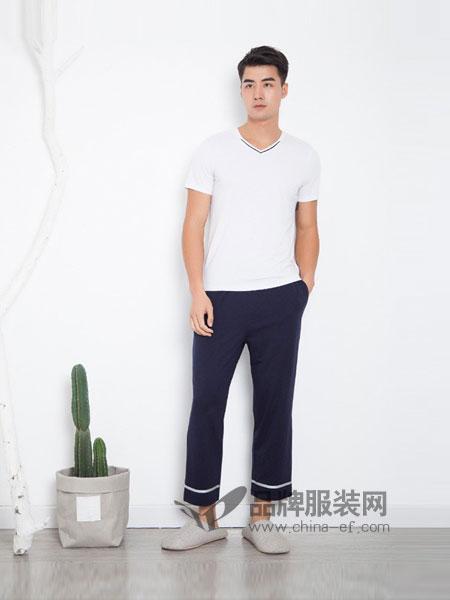 贴心衣佰库 tiexin内衣2018春夏简约个性卷边拼色直筒裤休闲裤