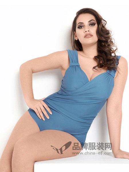 范德安内衣2018春夏塑身显瘦美胸连身泳装 无钢托泳衣