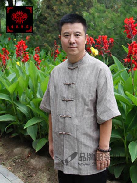 唐宋华衣男装2018春夏唐装短袖上衣中老年中式民族服装潮