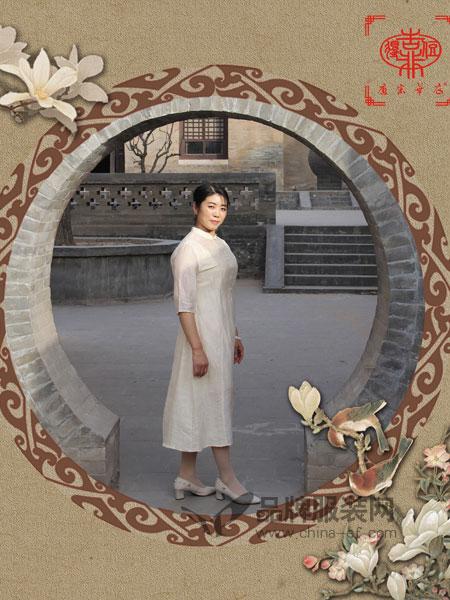 唐宋华衣女装2018春夏修身显瘦韩版森女纯色中长裙