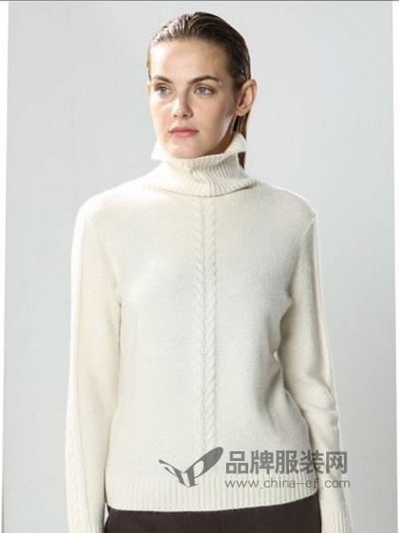 漫思雅女装2018秋冬毛衣女复古扭花柔软套头羊绒衫宽松