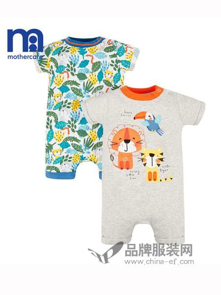mothercare童装2018春夏男女宝小动物短爬服两件装