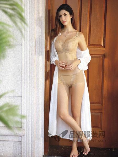 完美体态内衣2018春夏蕾丝性感小胸聚拢纯色透气美背柔软内衣套装