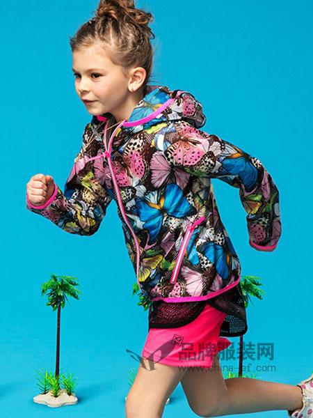 派克兰帝童装2018春夏中长款白鸭绒外套 儿童迷彩冲锋衣