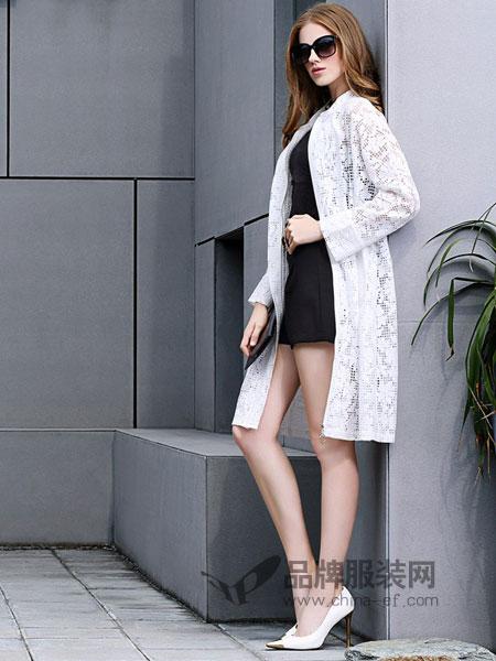 例格女装2018春夏防晒衣女士镂空披肩外搭薄款披风外套