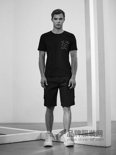 农茶男装2018春夏圆领宽松休闲男士短袖T恤半袖修身体恤衫