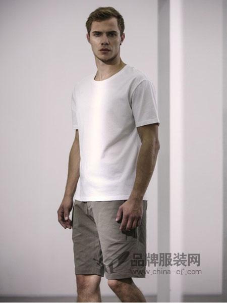 农茶男装2018春夏个性时尚绣花圆领短袖T恤