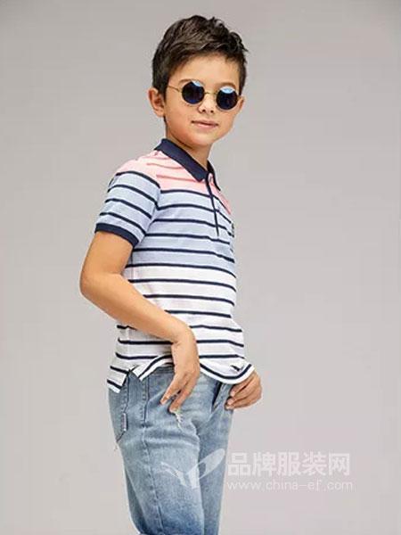 奥斯塔童装2018春夏短袖T恤 儿童经典款休闲上衣